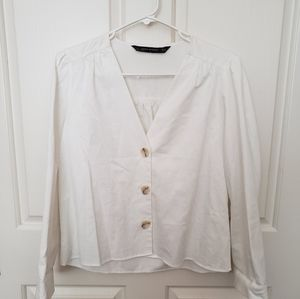 EUC ZARA Button Down Blouse